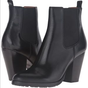 Frye Black Smooth Veg Calf Boots